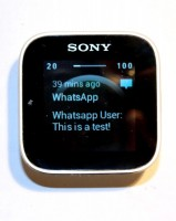 WatchNotifier on Sony Smartwatch