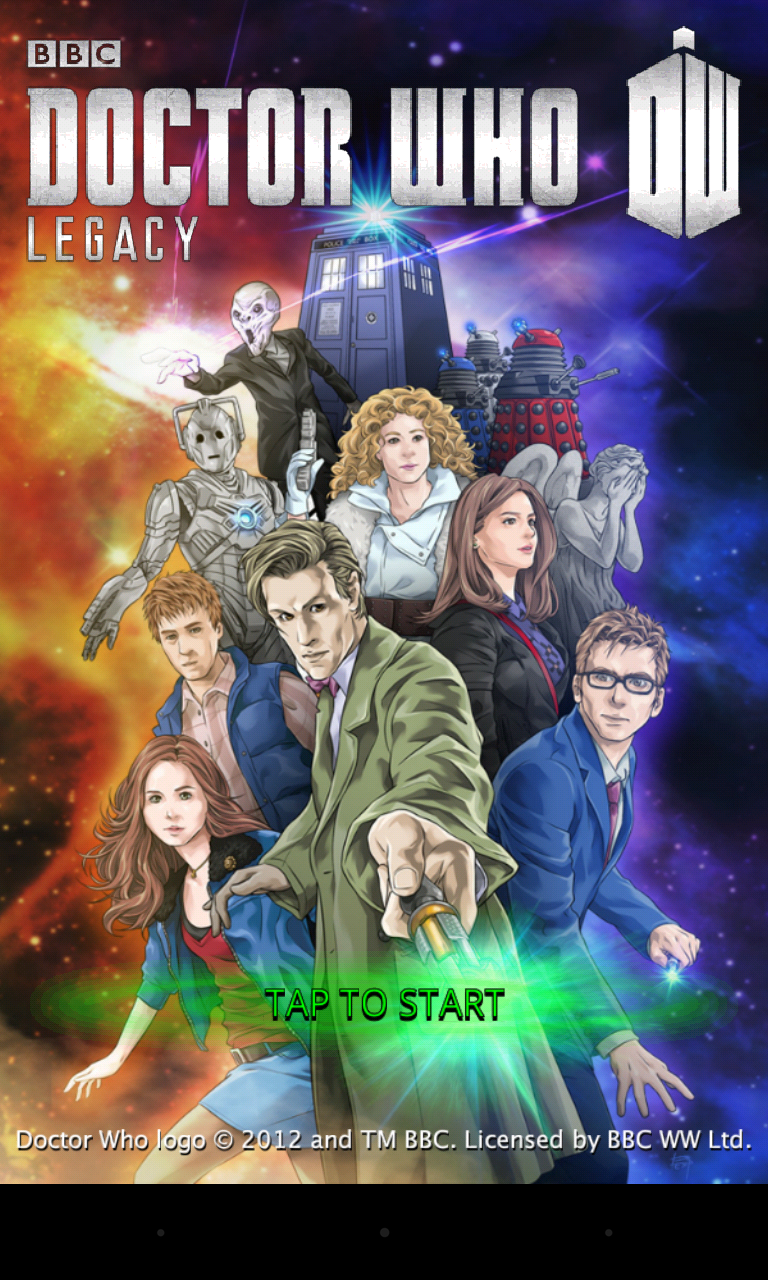 Doctor Who Legacy - Splash page