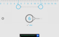 Ruler App on Tablet - Centimeter Measurement