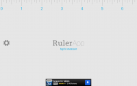 Ruler App on Tablet - Start Screen