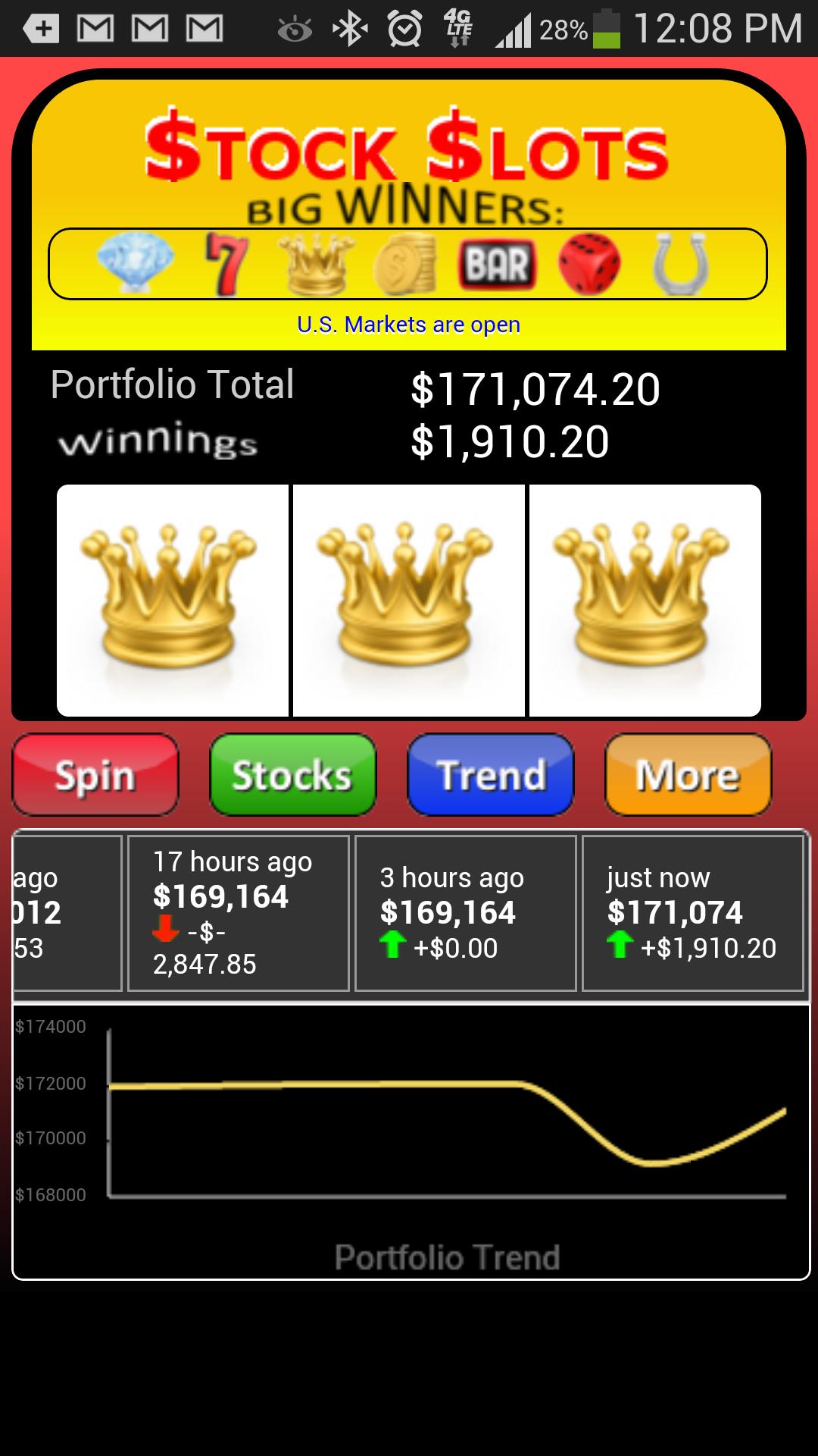 Stock Slots Pro - Winnings
