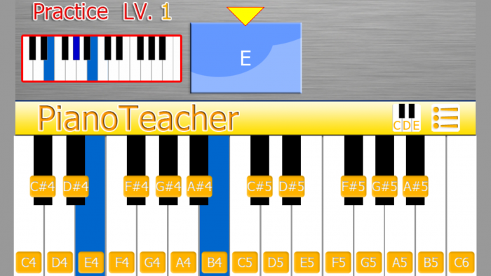 PianoTeacher - Practice Chords