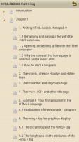 HTML5 and CSS3 Part 1 - Table of Contents