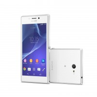 Sony Xperia M2 - Front and Back in White