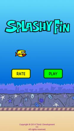 Splashy Fin the Clumsy Fish - Start Screen