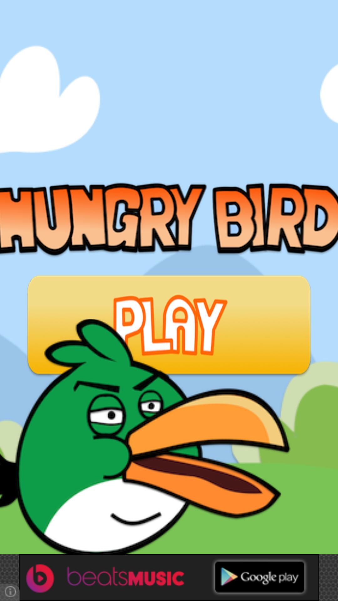 Hungry Bird - Start Screen