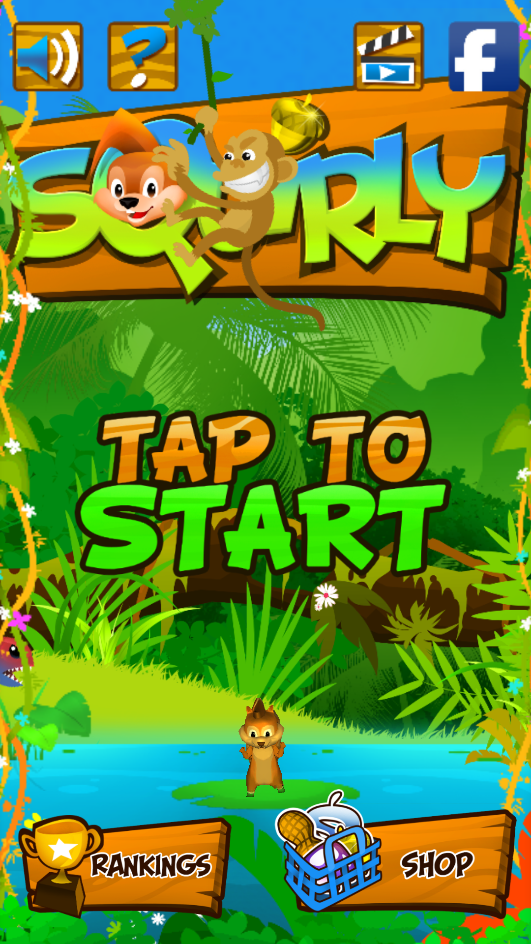 Squirly - Start Screen