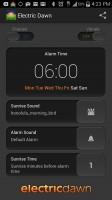 Electric Dawn Alarm Clock - Settings Alarm