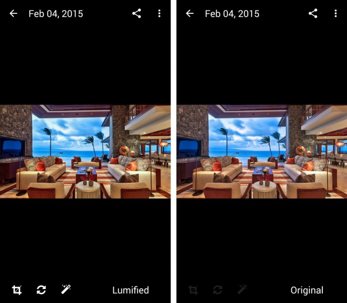Lumific - Lumified Photo Comparison