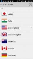 Hotspot Shield VPN Proxy WiFi - Choose VPN Location