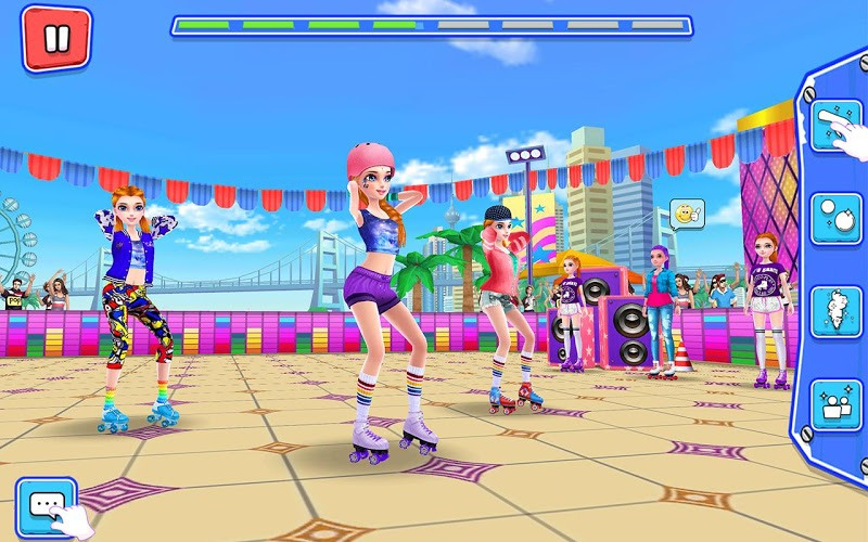 Download Roller Skating Girls – Dance on Wheels on PC with