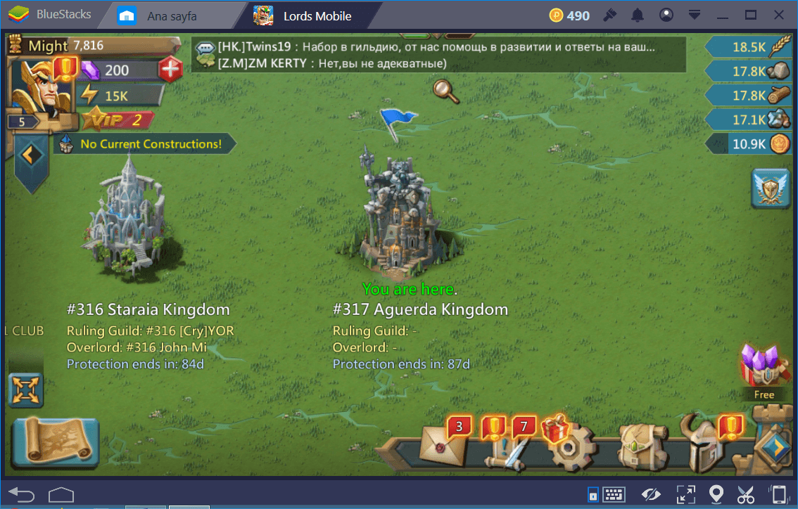 Lords Mobile: How to move your Kingdom to another Server?