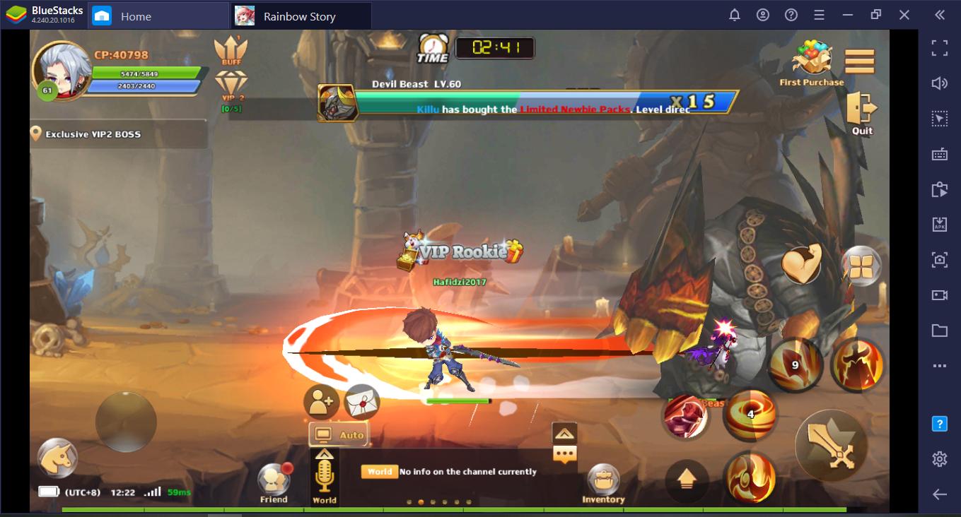 Tips Cepat Menaikkan Level dan Kekuatan untuk Pemula di Rainbow Story: Fantasy MMORPG