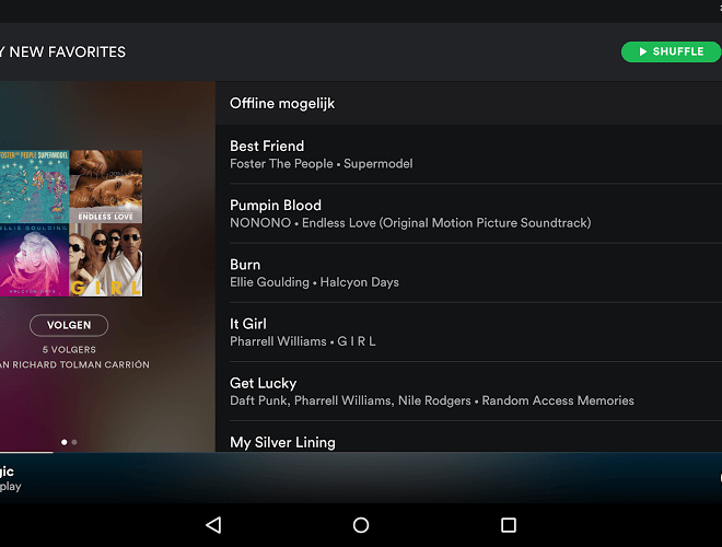 Speel Spotify android app on PC 11