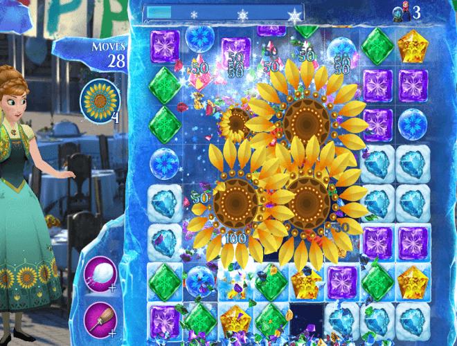Spielen Frozen Free Fall on pc 3