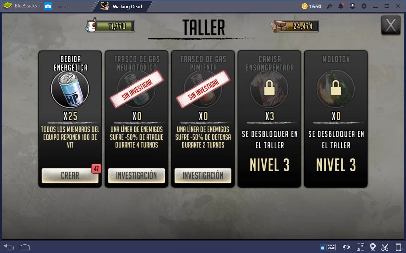 Guía Para el Taller de The Walking Dead: Road to Survival