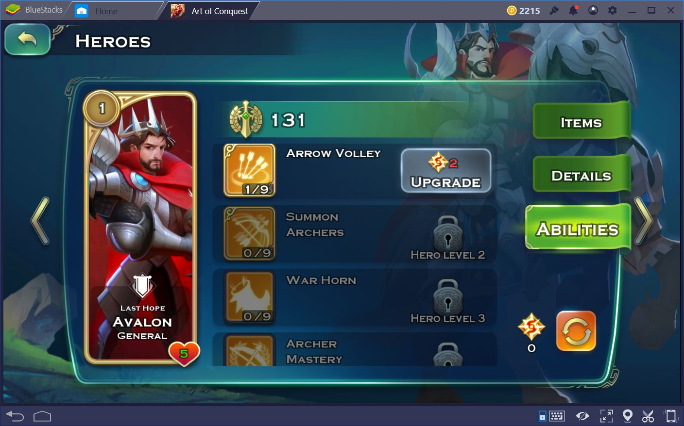 Free Heroes in Art of Conquest
