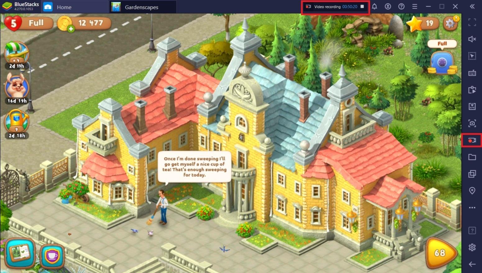 Jak grać w Gardenscapes na PC z BlueStacks