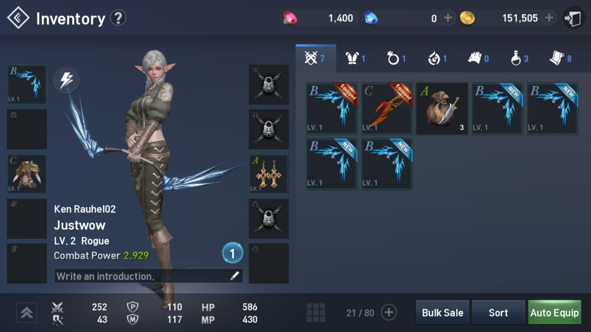 Lineage 2 Revolution Equipment Image 1