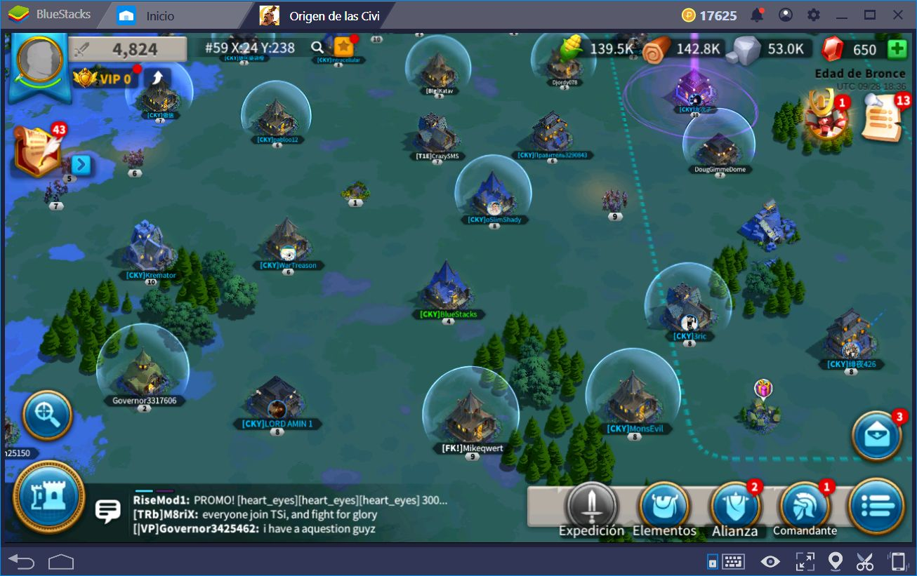 Usando BlueStacks 4 Para Obtener la Ventaja en Rise of Kingdoms