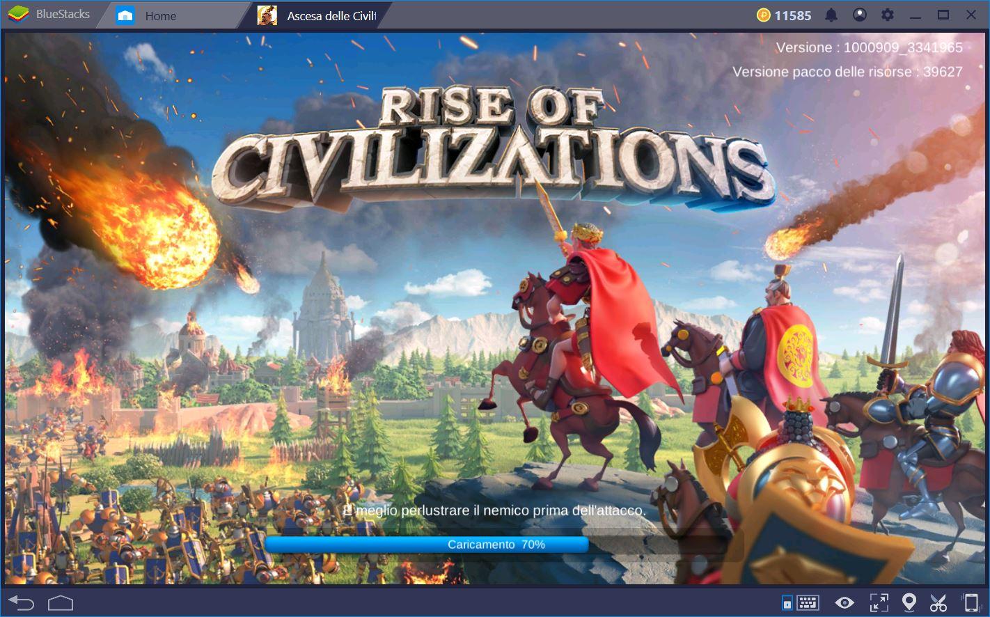 Rise of Kingdoms: Come muovere i primi passi