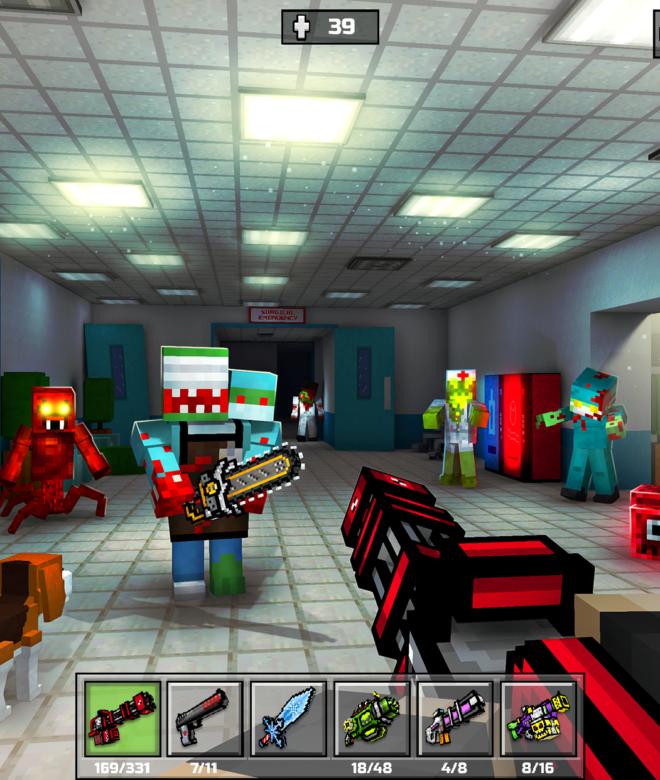 Pixel Gun 3D: Survival shooter & Battle Royale İndirin ve PC'de Oynayın 17