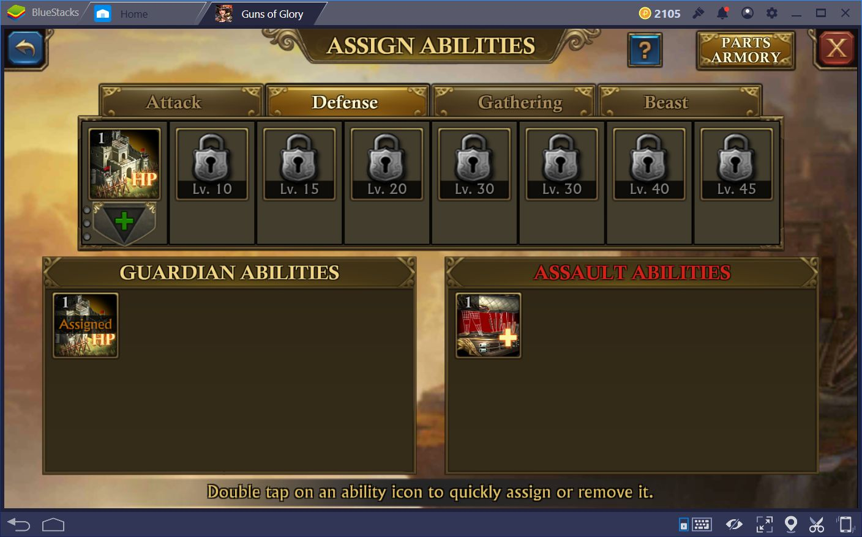 Przewodnik po sterowcu w Guns of Glory na PC