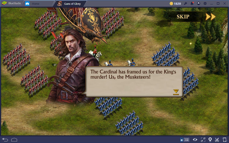 Guns of Glory na PC: Nauka o ekranach Zamku i Królestwa