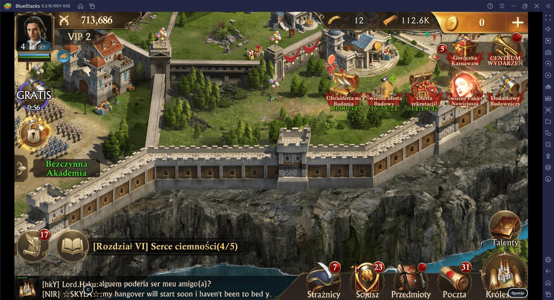 Wzmacnianie budynku straży w Guns of Glory