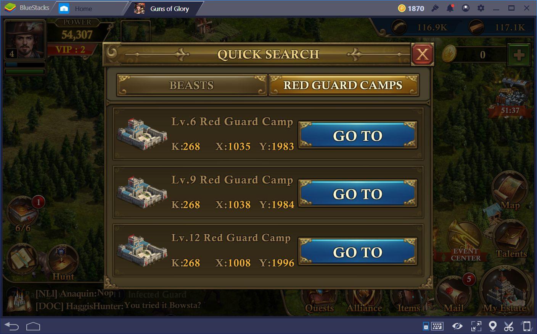 Guns of Glory: Wskazówki jak atakować Czerwoną Gwardię