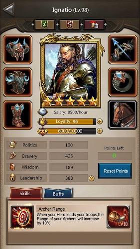 Играй Empire War: Age of Heroes На ПК 8