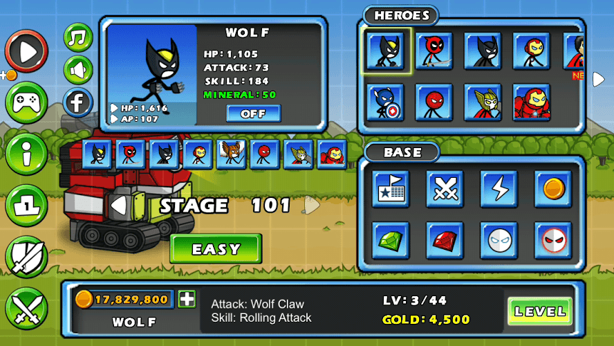 Chơi HERO WARS: Super Stickman Defense on PC 23