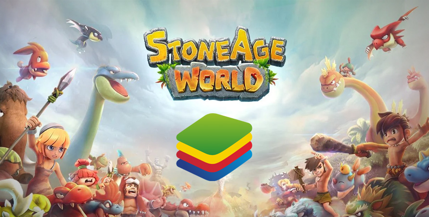 Como jogar Stoneage World no PC usando o BlueStacks