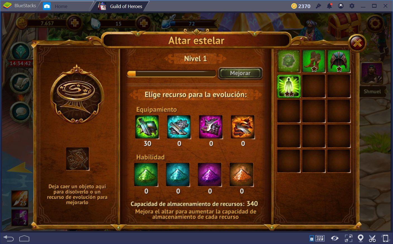 Guía Para el Altar Estelar en Guild of Heroes