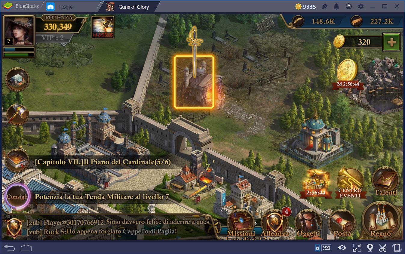 Guns of Glory: Come giocare nelle Catacombe