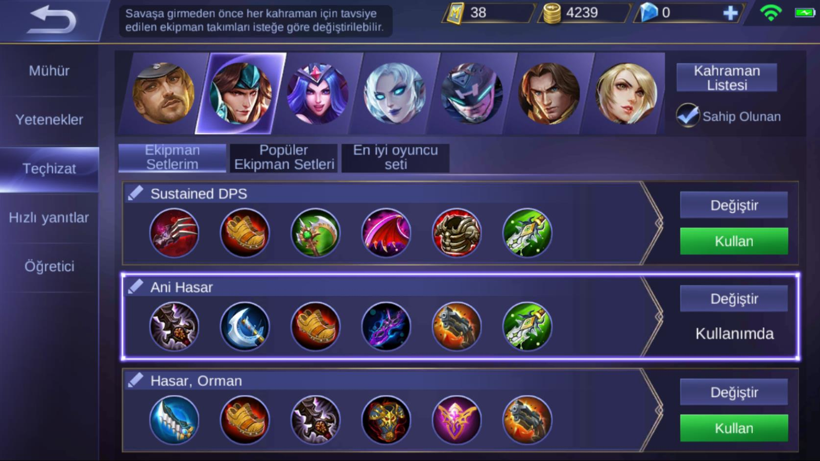 Mobile Legends Equipment Tr