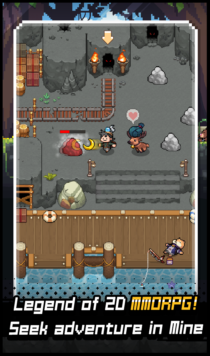 Download Grow Stone Online : 2d Pixel RPG, MMORPG Game On