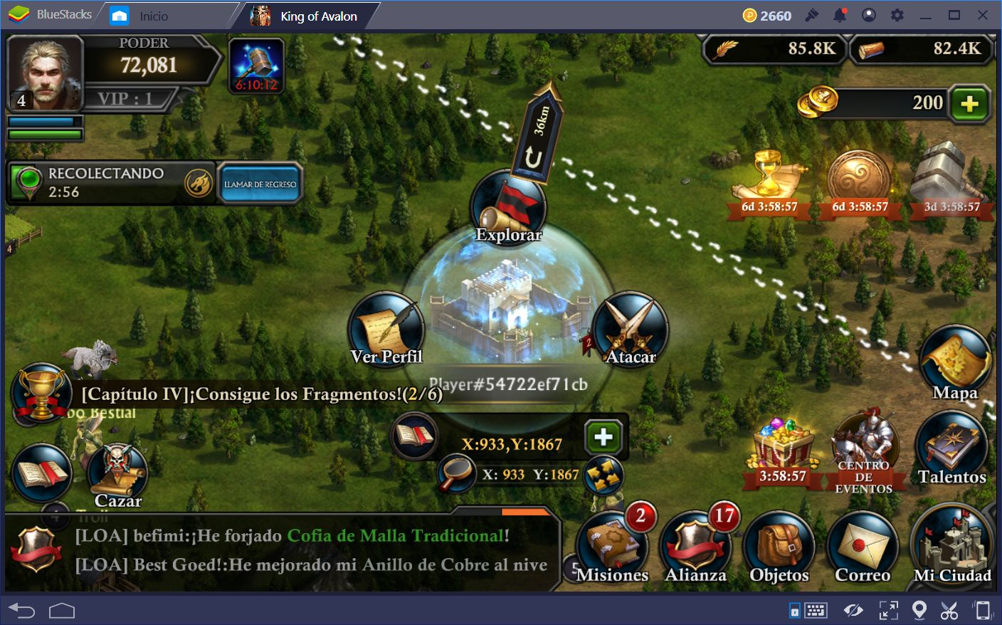 Usando la Multi-Instancia de BlueStacks para Aumentar tu Producción en King of Avalon