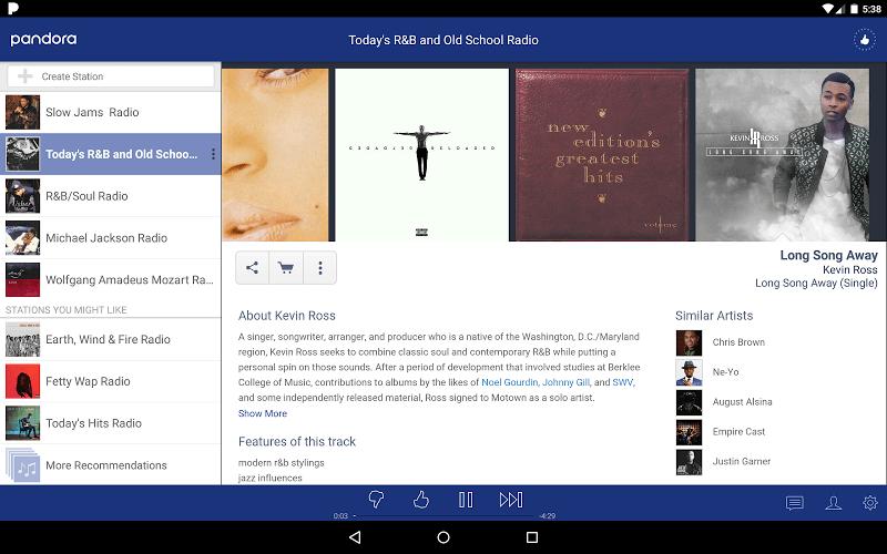 Features of Pandora Radio