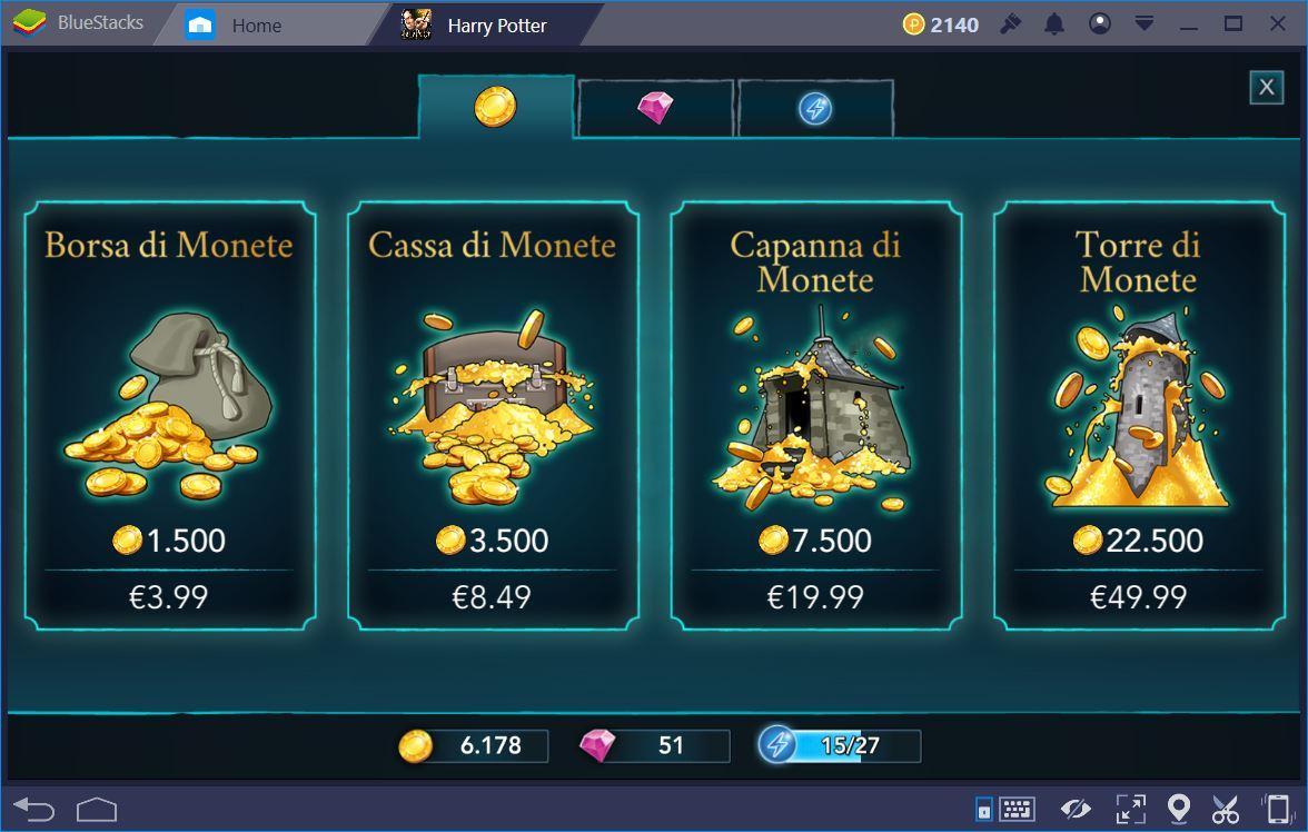 Harry Potter Hogwarts Mystery: Guida alle Gemme e Monete