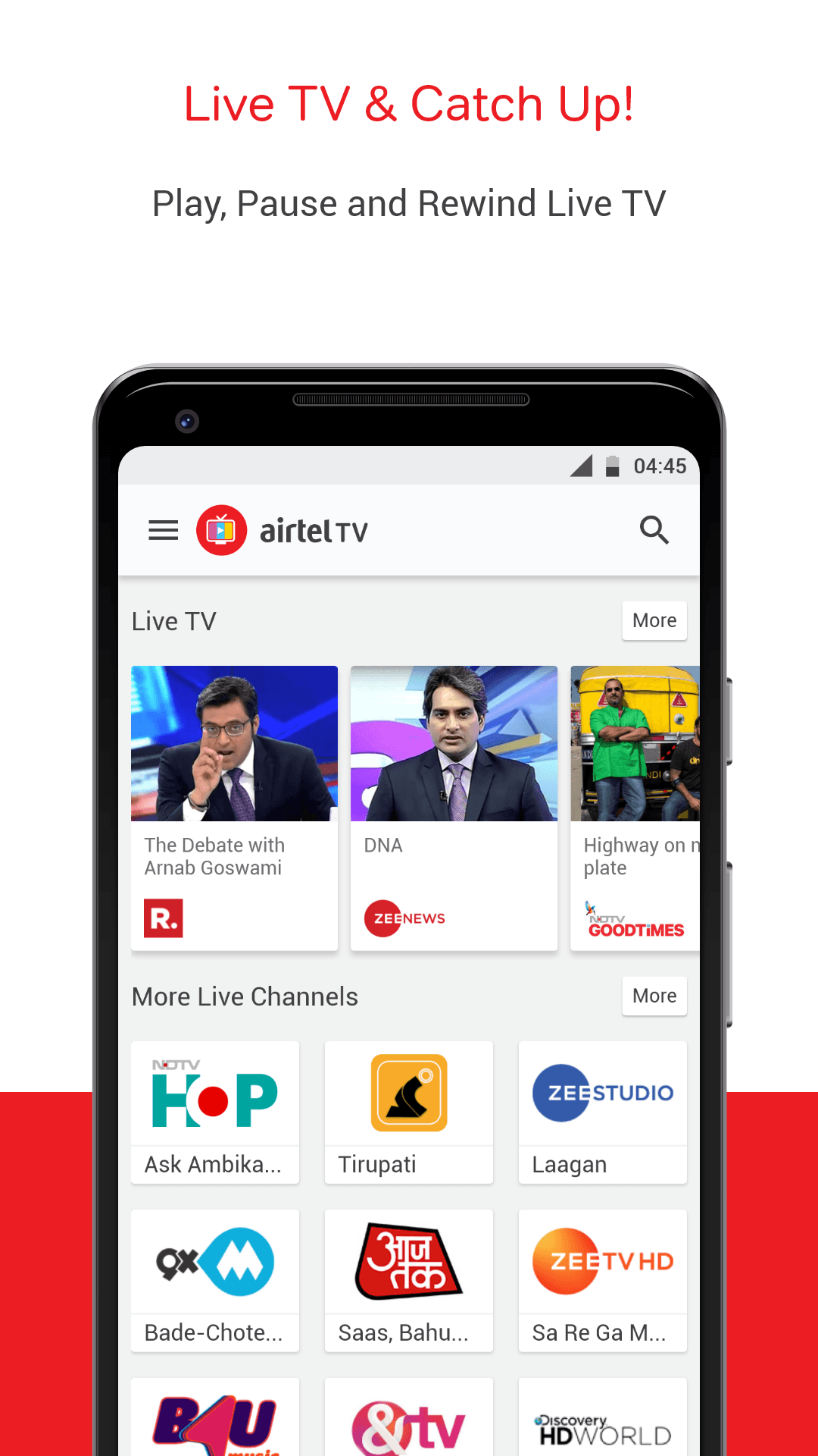 Download Airtel TV: Movies, TV series, Live Aus vs India on