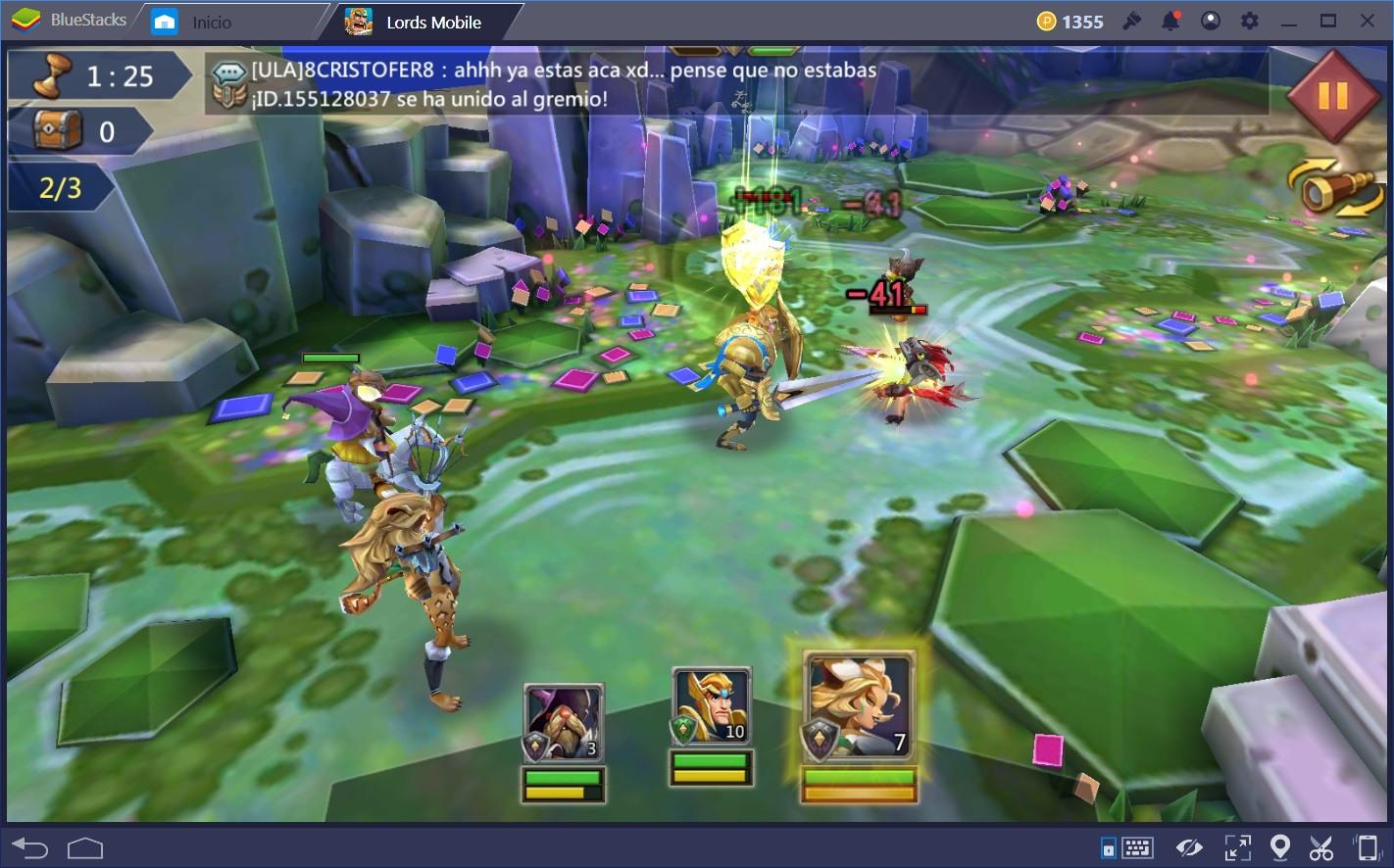 Cómo Desbloquear y Entrenar Héroes Rápidamente en Lords Mobile