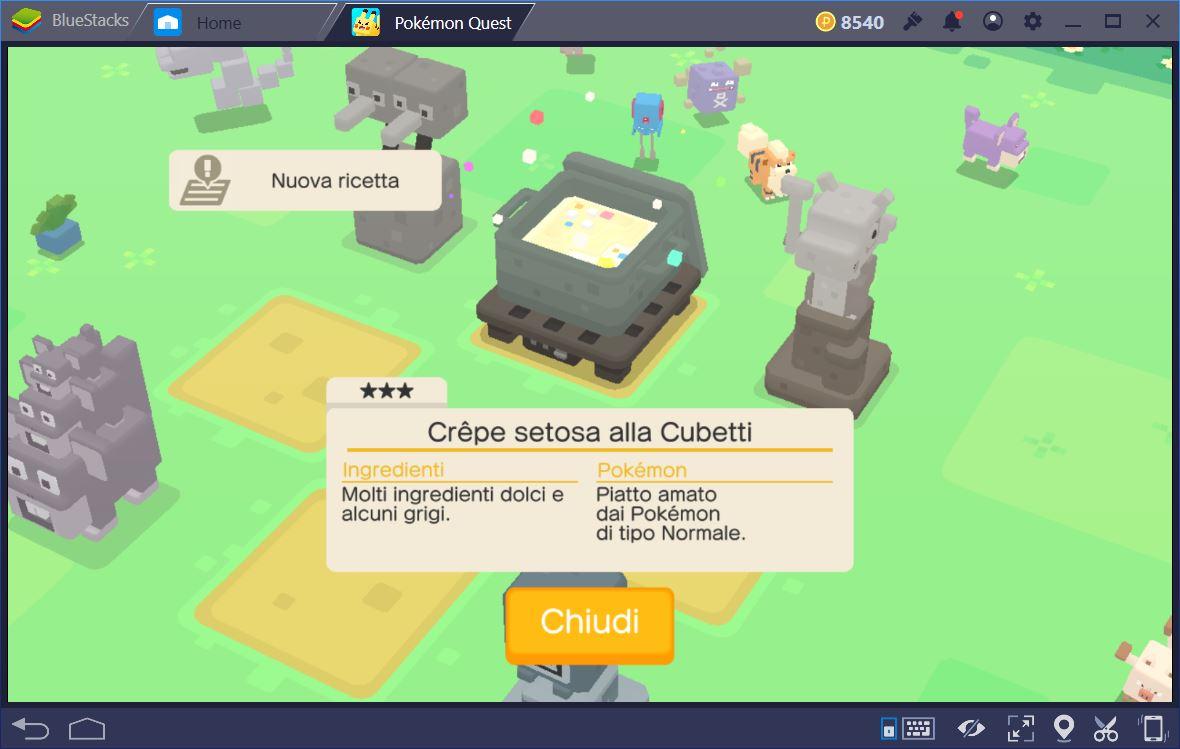 Pokémon Quest: Guida alle Ricette