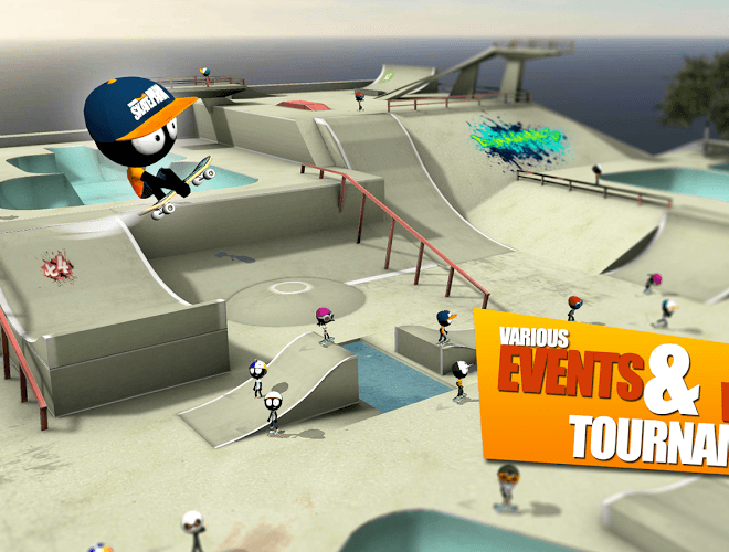 Play Stickman Skate Battle on PC 6
