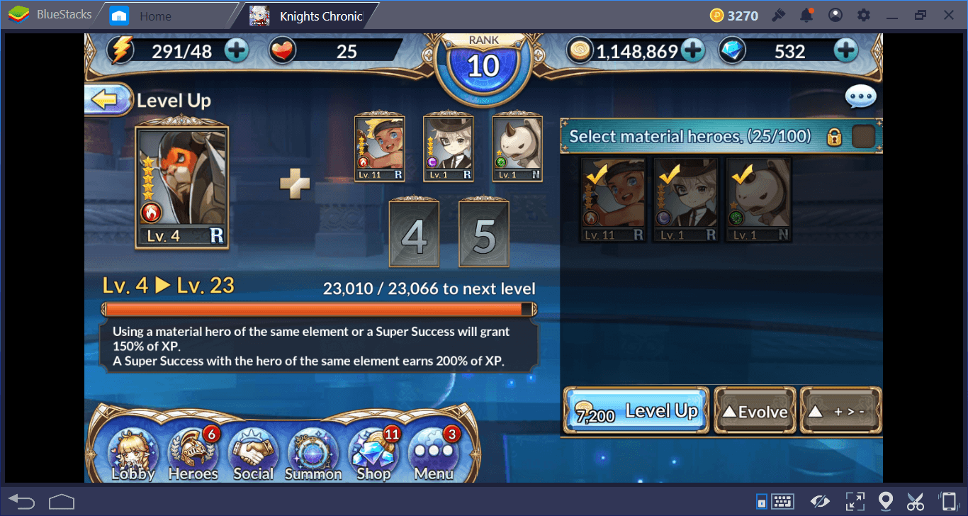 Leveling, Evolving, and Upgrading Your Knights Chronicle