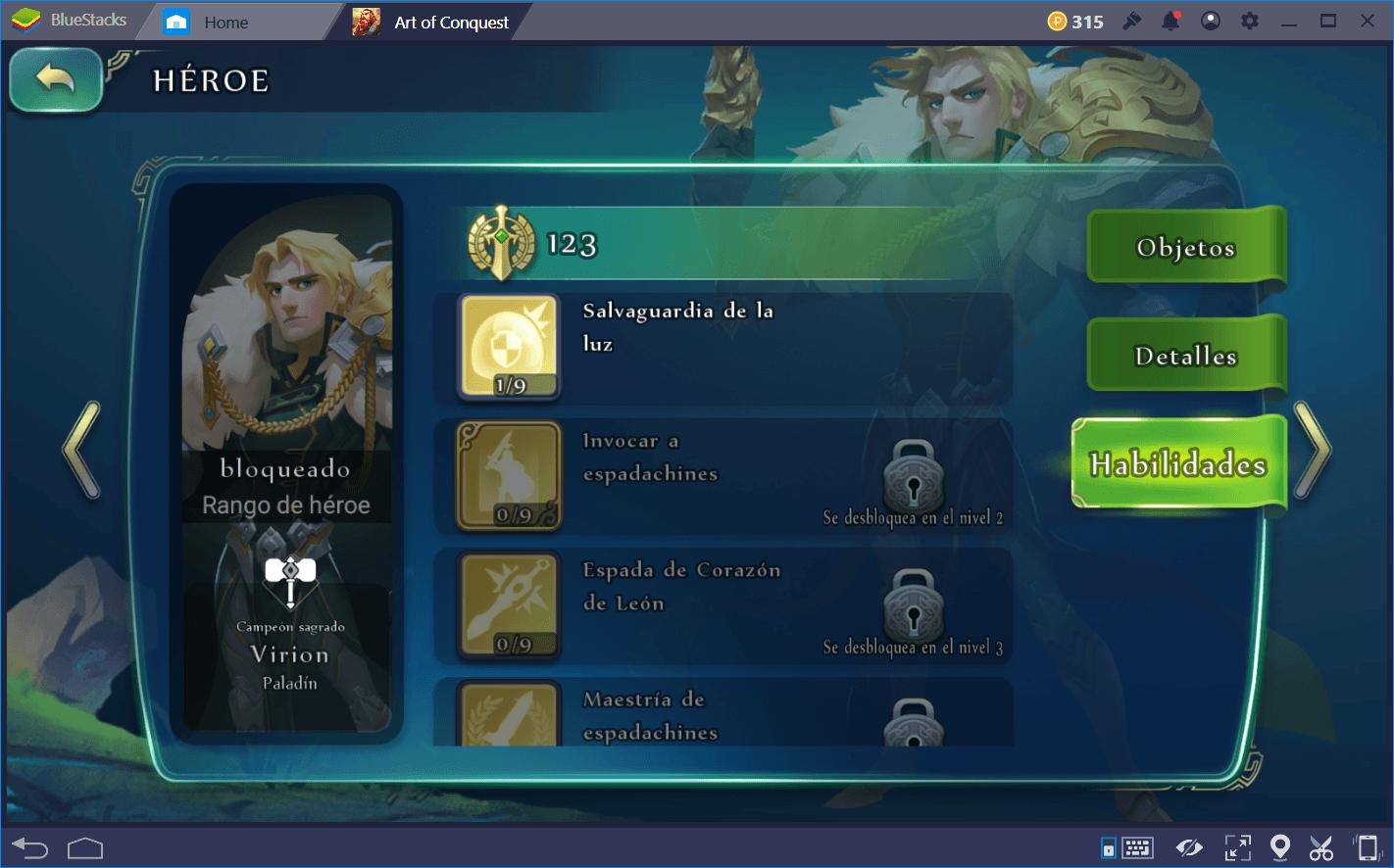 Art of Conquest (AoC): Héroes que Puedes Obtener de Forma Gratuita