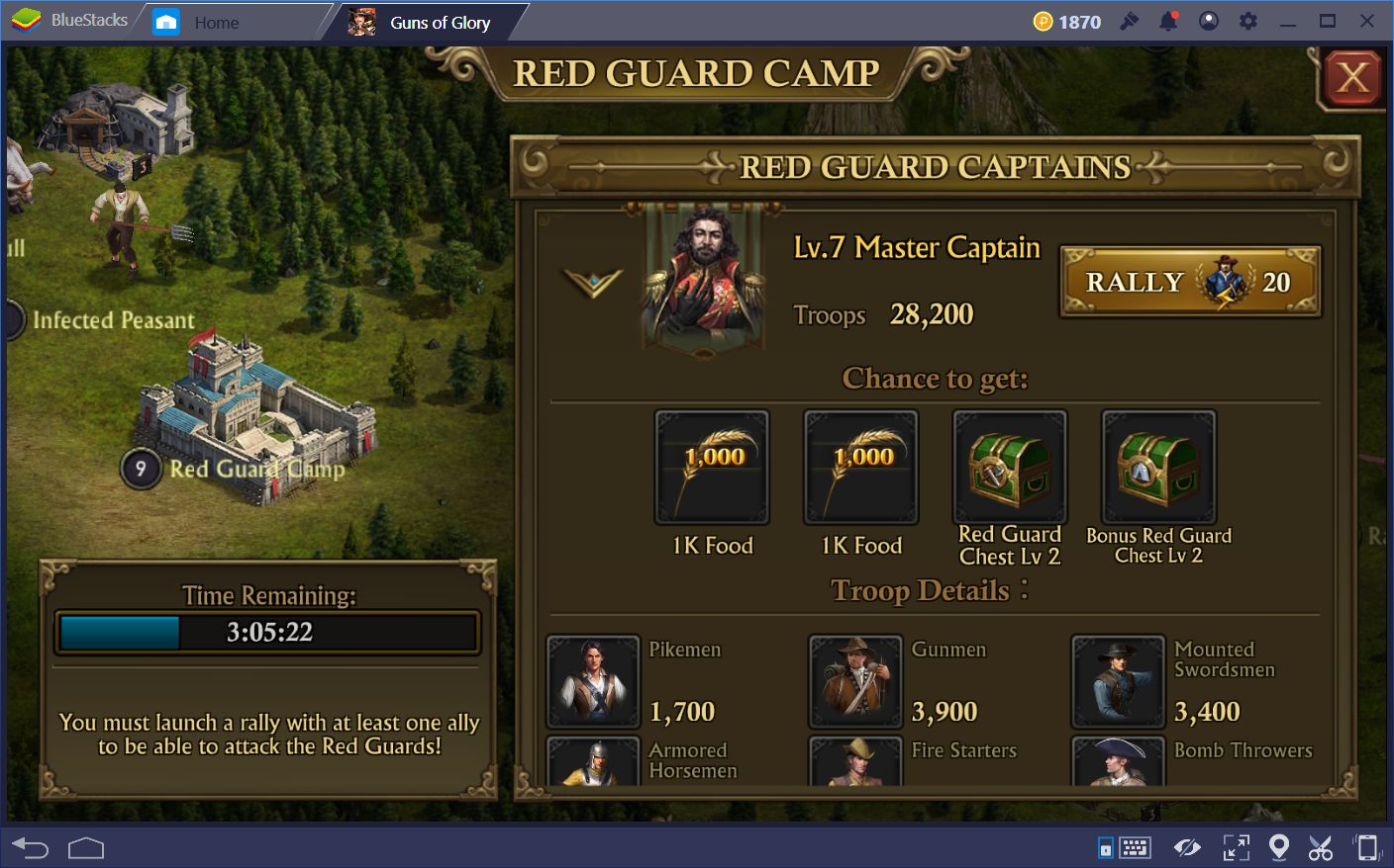 How To Attack Red Guard Camps In Guns of Glory on PC
