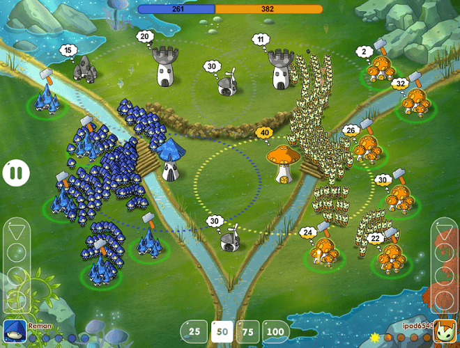 เล่น Mushroom Wars: Space! on pc 15