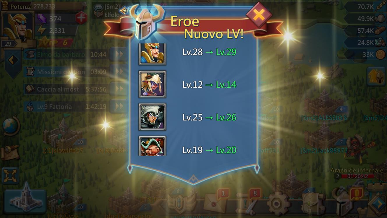Come Sbloccare e Potenziare gli Eroi di Lords Mobile