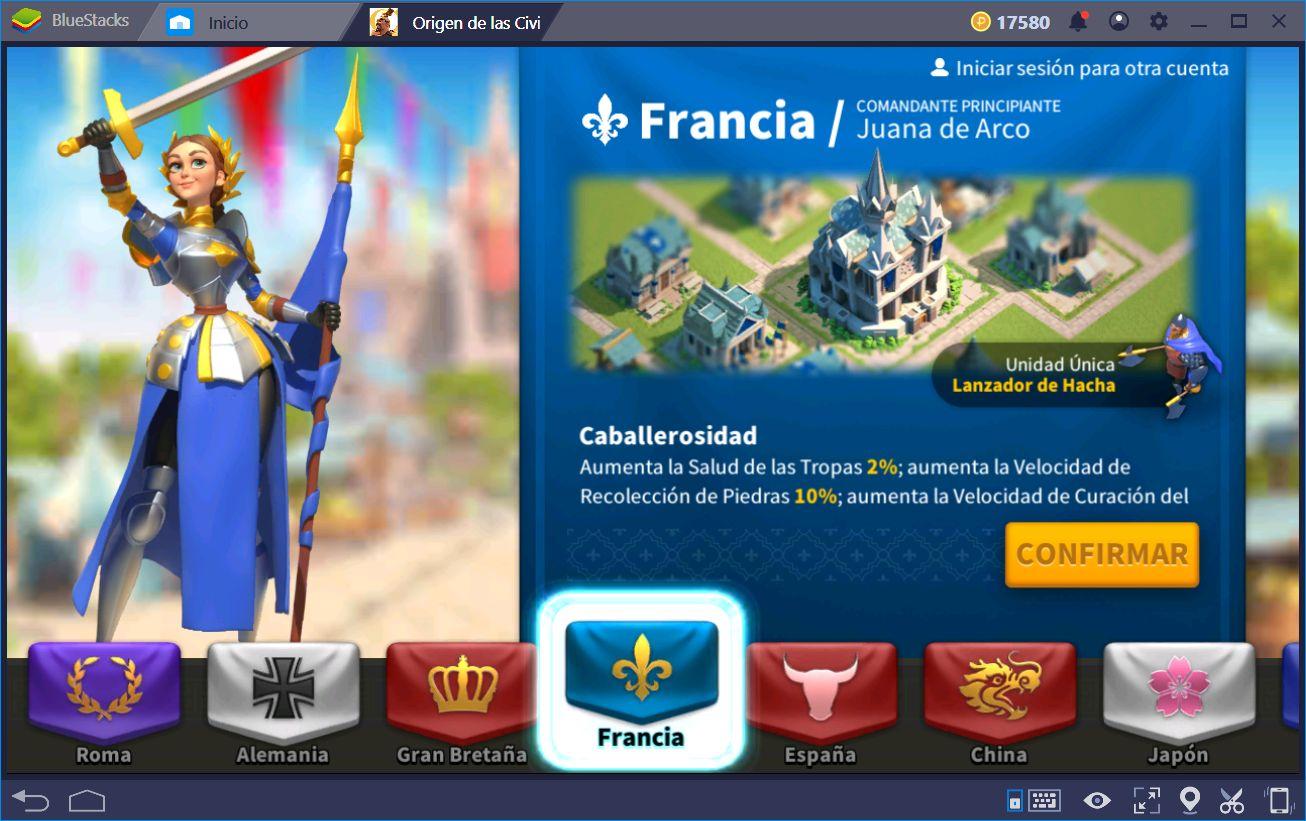 Guía de civilizaciónes en Rise of Kingdoms